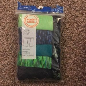 New Wonder Nations 5 pack Green Boxer Briefs
